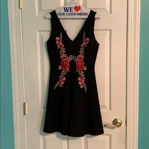 Lulu's black and rose dress